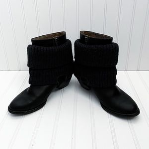 PIKOLINOS Shoes - Pikolinos Leather Boots Knit Cuff Overlay EU 37